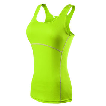TT93 Plus Size S-XXL Compression Under Base Wear Womens Sleeveless Tank Tops Ladies Casual Shirts Skins Cami Vest 2016 New