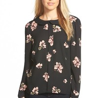 Women's CeCe by Cynthia Steffe 'Floral Daydream' Long Sleeve Blouse,