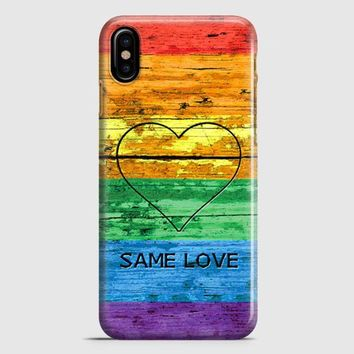 Lgbt Same Love Rainbow Flag iPhone X Case