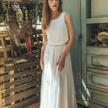 70s wedding dress, 1970 wedding dress, White harley quinn wedding dress, Vintage boho wedding dress, Jasmin calla white inside