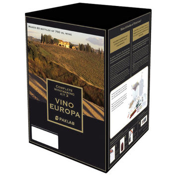Vino Europa Complete Winemaking Starter Set with Merlot/Malbec Red Wine Kit