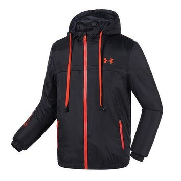 ICIKNY1Q Boys & Men Under Armour Cardigan Jacket Coat Hoodie Windbreaker