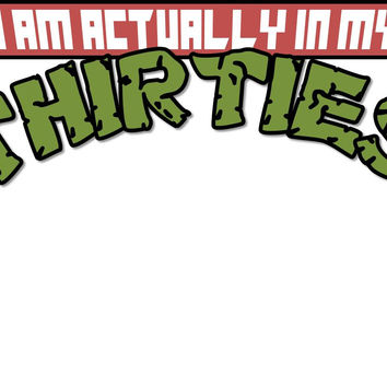 TMNT I'm Actually In My Thirties T Shirt