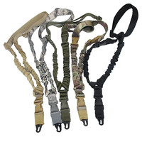 USA Tactical Gun Sling Adjustable Single Point Bungee Rifle Sling Strap System Free Shipping