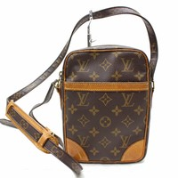 Authentic Louis Vuitton Shoulder Bag Danube M45266 Browns Monogram 17446