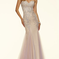Strapless Sweetheart Mori Lee Prom Dress