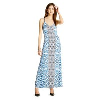 Knit Maxi Dress Blue Print - Mossimo