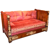 Period Charles X Mahogany Daybed
