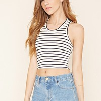 Striped Cropped Tank