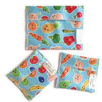 Reusable Snack Bags, Set of 3 Eco Friendly Snack Bags, Water Resistant Snack Bags