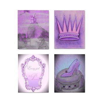 Princess Decor, Nursery Prints, Purple, Girls room Decor, Nursery Wall Art, Kids Wall Art, Nursery Decor, Nursery Prints, Pink purple art