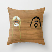 Willie & Snoop Throw Pillow by FAMOUS WHEN DEAD