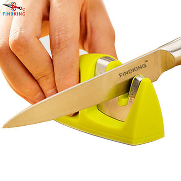 FINDKING brand Two Stages (Diamond & Ceramic) Kitchen Knife Sharpener ,Sharpening Stone Household Knife Sharpener Kitchen Tools