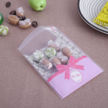 100Pcs/lot Lace Candy Bags Self Adhesive Seal Plastic Cookies Biscuit Food Bags Wedding Favors Cake Packing Gifts Bags