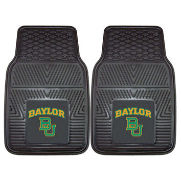 Baylor Bears NCAA Heavy Duty 2-Piece Vinyl Car Mats (18x27)