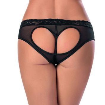 Escante Women Plus Size Heart Cut Out Panties 1347X