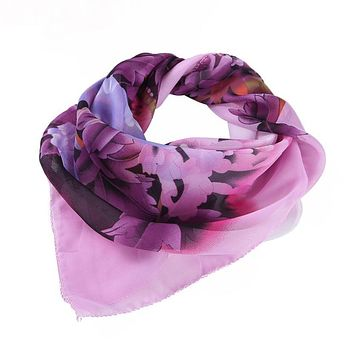 Hot Sales 2017 SIF New Fashion Women Popular Printing Square Scarf Head Wrap Kerchief Neck Shawl 60*60 JUL 18 Levert Dropship