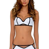 Del Mar Swim Area Bikini | Cut Out Bikini Set