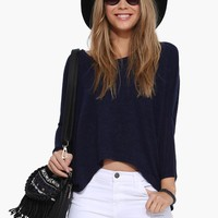 Button Back Open Fly Sweater
