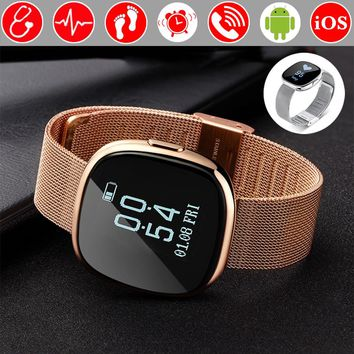 Blood Pressure Heart Rate Monitor Fitness Bracelet Pedometer Smart Band Wristband Tracker Smartband PK Fitbits Xiaomi Mi Band 2