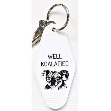 Well Koalafied Motel Keychain in White