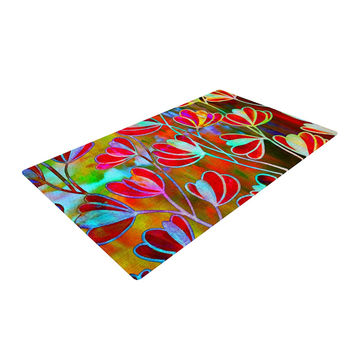 "Ebi Emporium ""Efflorescence - Technicolor"" Red Multicolor Woven Area Rug"