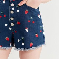 BDG Hazel High-Rise Denim Short – Fruit | Urban Outfitters