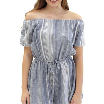 striped linen sawyer romper.