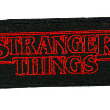 Stranger Things Patch Iron on Applique Alternative Clothing Supernatural Horror Scifi