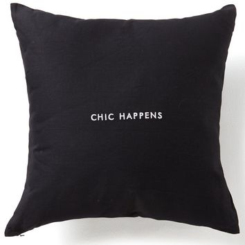 kate spade new york Words of Wisdom Collection Chic Happens Cotton & Linen Square Pillow | Dillards