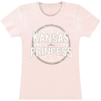 Jason Aldean  Kansas Princess Junior Top Pink