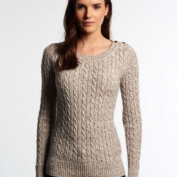 Croyde Twist Cable Crew Neck Jumper
