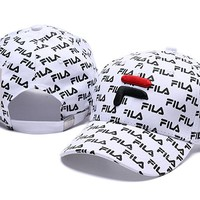 White FILA Golf Baseball Cap Hat