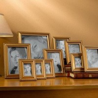 10 PIECE FRAME SET GOLD