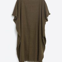 FRAYED PONCHO - View all-ACCESSORIES-MAN   ZARA United States