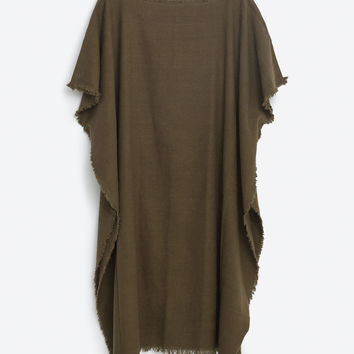 FRAYED PONCHO - View all-ACCESSORIES-MAN | ZARA United States