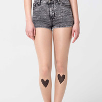 Black Hearts Tattoo Tights
