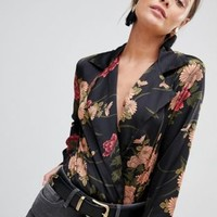 Parisian floral print body at asos.com