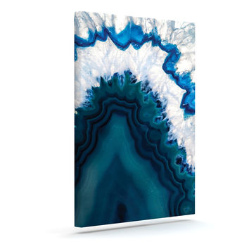 "KESS Original ""Blue Geode"" Nature Photography Canvas Art"