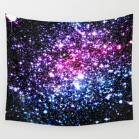 Cool Tone Stars Wall Tapestry by GalaxyDreams
