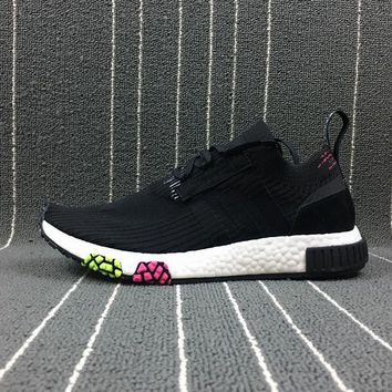 DCCKBE6 Adidas Boost Nmd Racer Spring NMD 3 Black Women Men Fashion Trending Running Sports Shoes