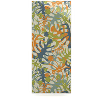 "Julia Grifol ""Summer Tropical Leaves"" Green Orange Luxe Rectangle Panel"