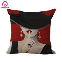 Portrait Style Almofadas Decorative Throw Pillows Cushion without Inner Home Decor Sofa Soft Hot Sale Cotton Linen Cojines
