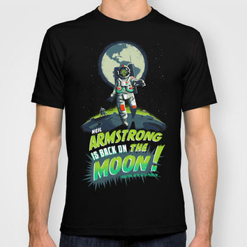 Armstrong is back on the moon ! T-shirt by Collectif PinUp! | Society6