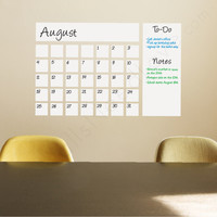 Dry Erase Calendar Decal