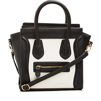 DailyLook: DAILYLOOK Mini Structured Handbag in Black / White