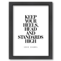 Americanflat ''Keep Your Heels, Head and Standards High'' Framed Wall Art