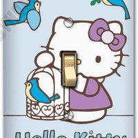 Hello Kitty Blue Birds Light Metal Switch Plate Cover Nursery Home Decor 630
