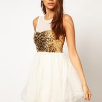 ASOS Party Dress with Sequin Bodice at asos.com