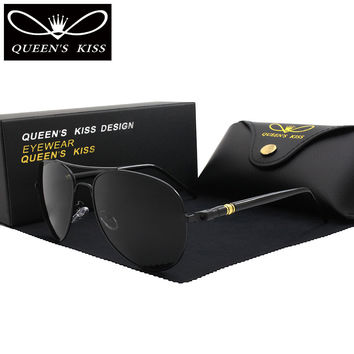 QUEENS KISS Classic Brand polarized sunglasses Fashion HD Glare men women sun glasses high quality driving Aviation sunglasses